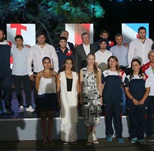 Грузинские олимпийцы и Георгий Квирикашвили