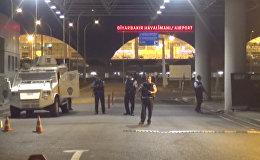 Ситуация у аэропорта в Диярбакыре, куда были выпущены четыре ракеты