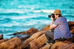 ფოტოგრაფი სანაპიროზე