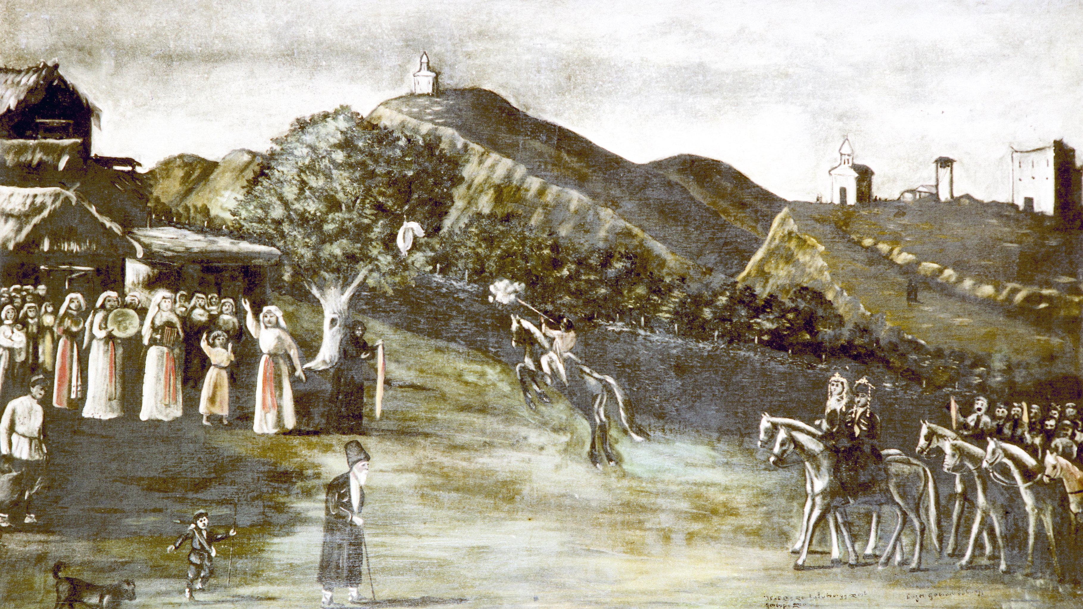 Картина Свадьба в Кахетии