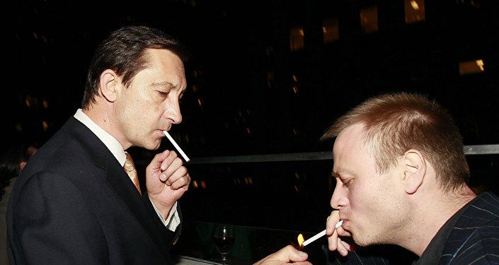 Писатель Дмитрий Косырев и спецкорр радио Голос России Дмитрий Горностаев (слева направо)