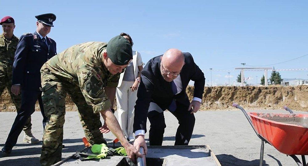 "Штаб тренировочного центра НАТО-Грузия строят на базе ""Крцаниси"""