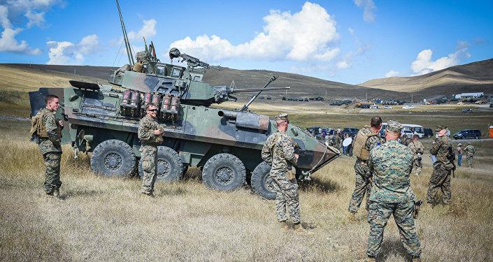 Военные учения в Грузии