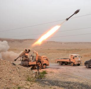 Запущенный снаряд в Сирии