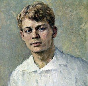 Репродукция портрета Сергея Есенина