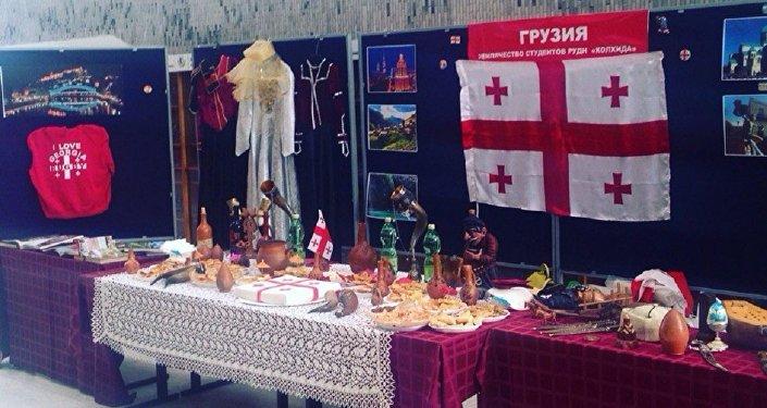 Мастер-класс по приготовлению хинкали и хачапури, Неделя Грузии в РУДН