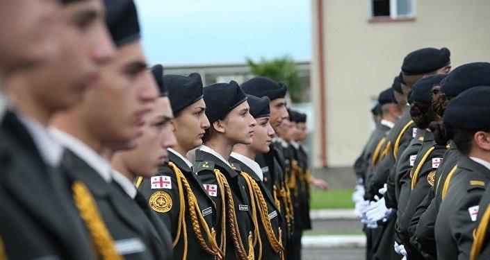 Учащиеся Кадетского военного лицея имени Георгия Квинитадзе