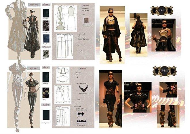 Эскизы костюмов модельера-дизайнера Анастасии Балак.