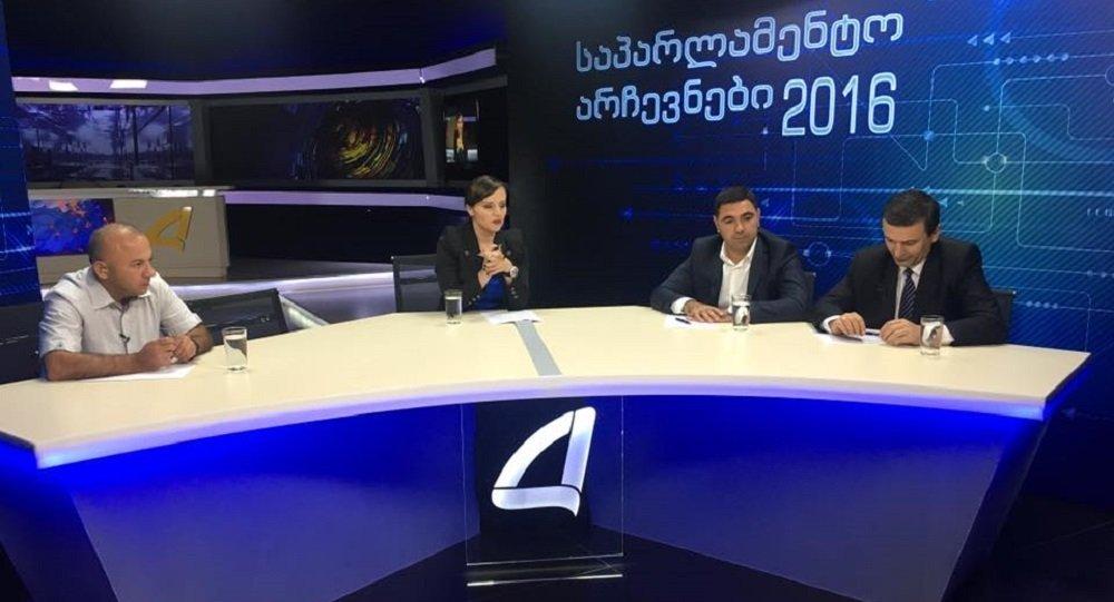 Грузинские политики подрались впроцессе дебатов впрямом эфире