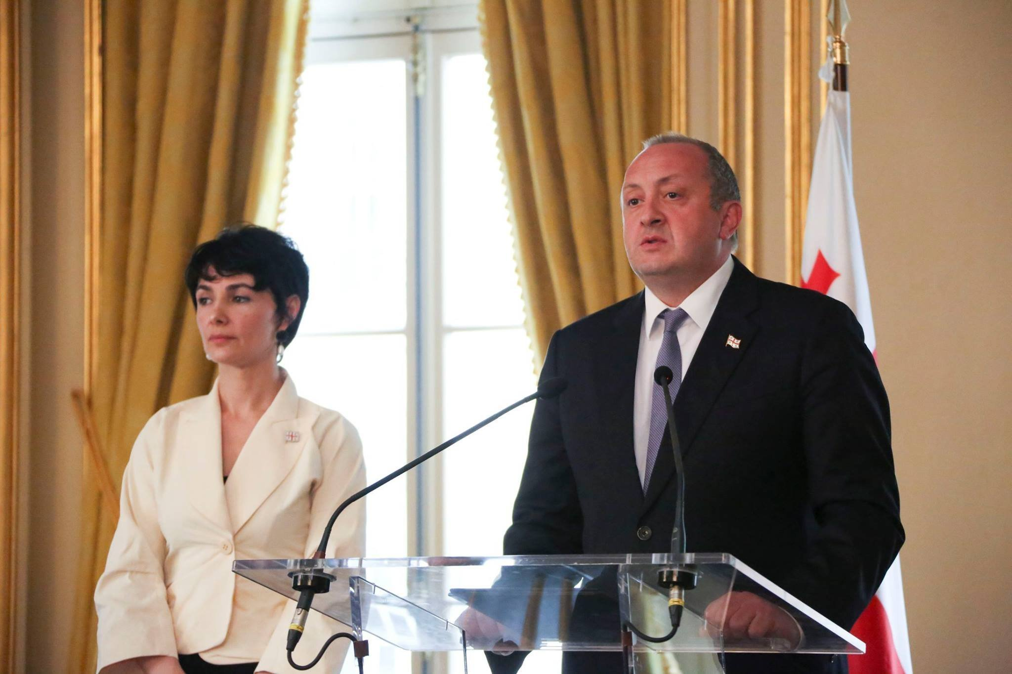 Екатерина Сирадзе-Делоне и Георгий Маргвелашвили