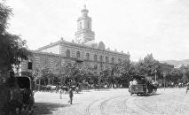 Конка в центре Тбилиси