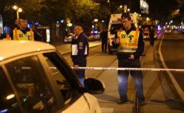 Полицейские оцепили место взрыва в Будапеште. Видео с места ЧП