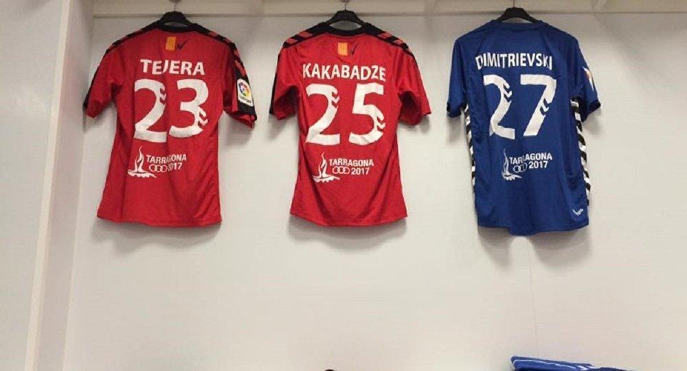 Футболка Отара Какабадзе, дебютировавшего за испанский Химнатсик