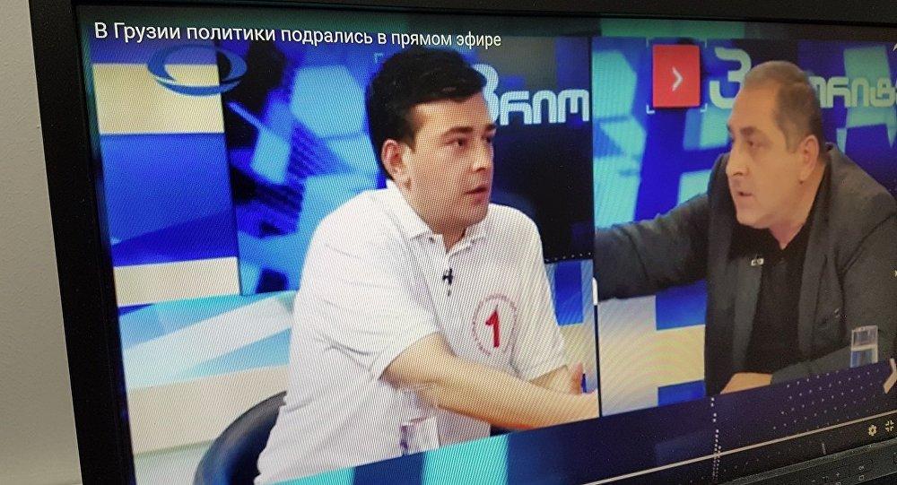 ВГрузии претенденты в народные избранники местного парламента подрались впрямом эфире