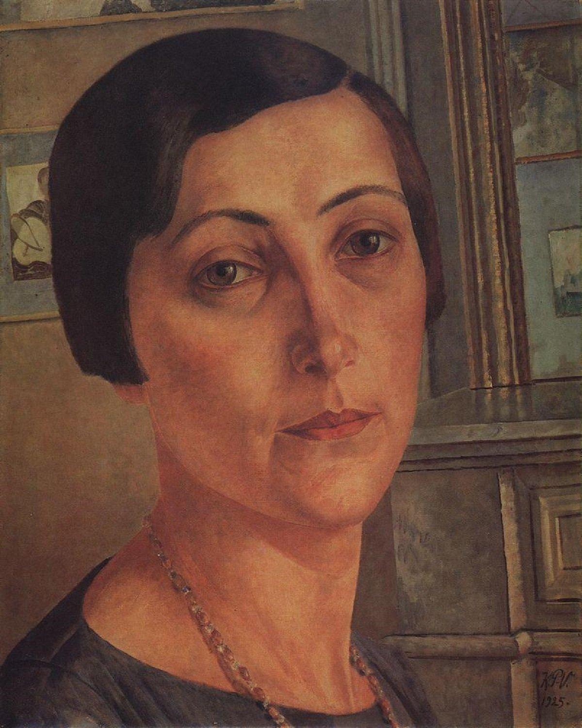 Портрет Саломе Андроникашвили кисти Петрова-Водкина