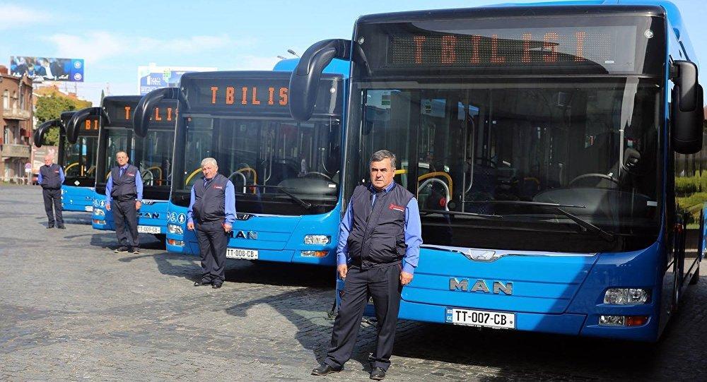 Новые автобусы презентовали вТбилиси