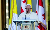 Папа Римский в Дворце президента Грузии