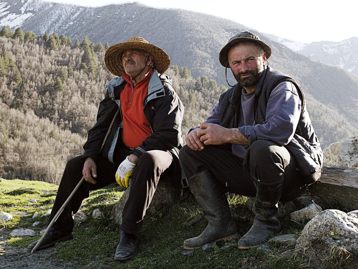 Жители Ушгули, фото Томаса Вахе