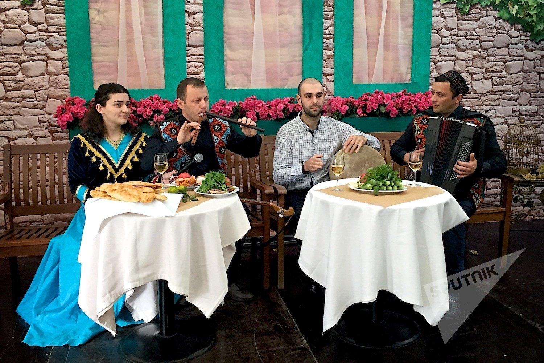 Празднование Тбилисоба в Москве
