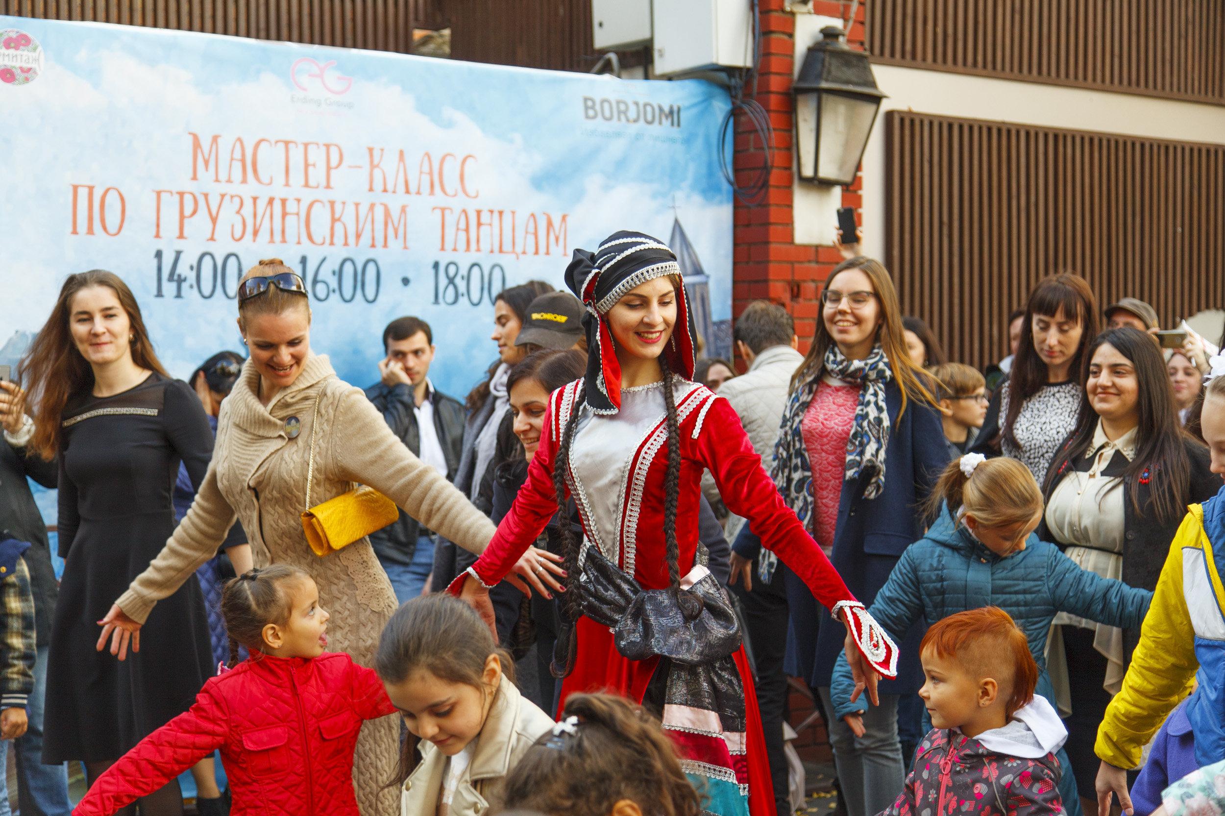 Мастер-класс по грузинским танцам, Тбилисоба в Москве
