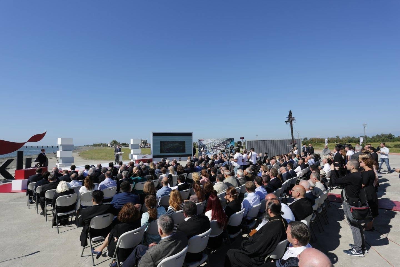 Церемония начала строительства порта в Анаклия