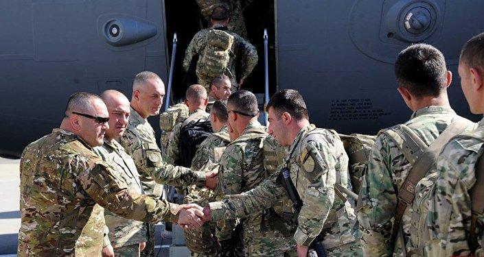 Грузинские военнослужащие отправляются в Афганистан