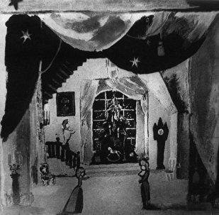 Эскизы костюмов и декораций театрального художника С.Вирсаладзе