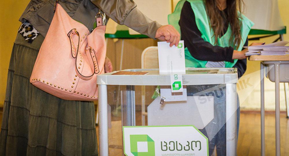 Голосование на парламентских выборах в Грузии
