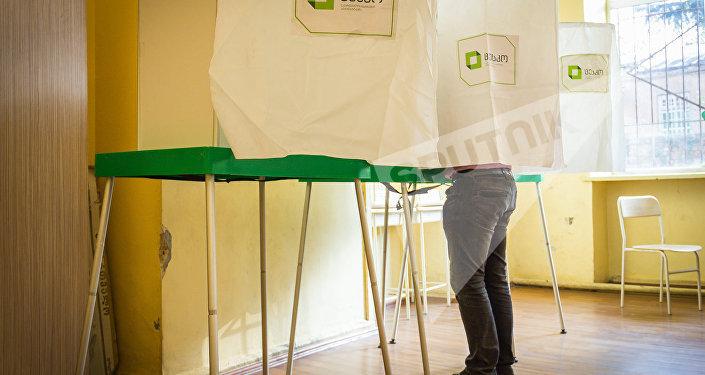 Парламентские выборы в Грузии, избирательный участок в Тбилиси