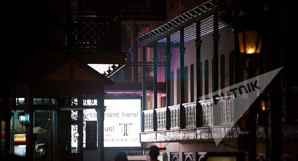Старый Тбилиси ночью