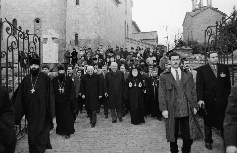 Борис Ельцин посетил храм Сиони, прозванный так в честь Сионской горы в Иерусалиме
