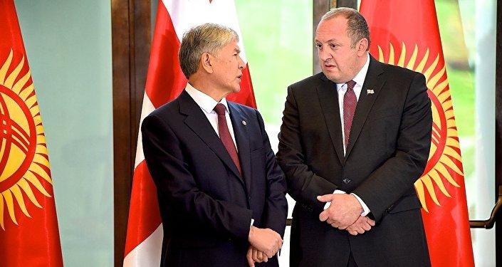Президент Грузии овизите киргизского коллеги