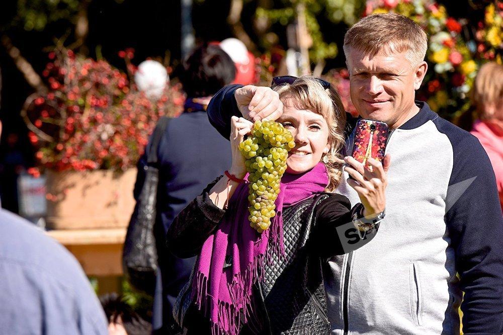 А ведь из этой грозди мог получится целый бокал знаменитого грузинского вина!