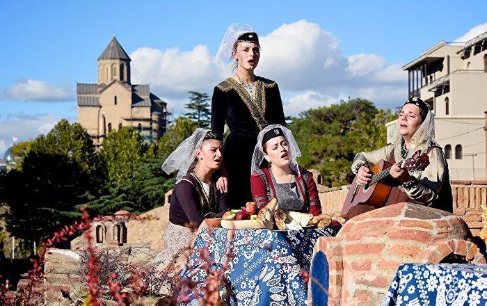 Тбилиси - исполнение грузинских народных песен