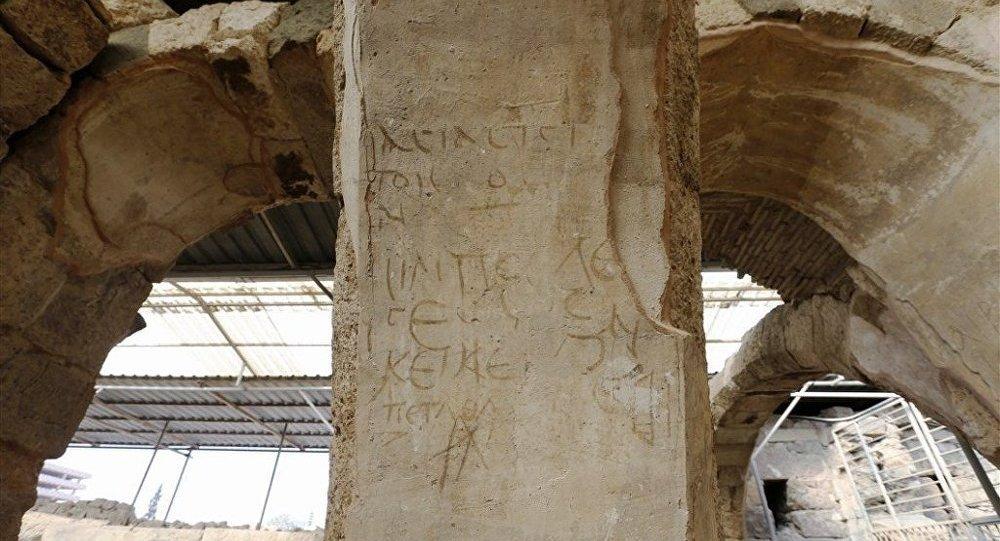 Надписи на стенах. Античный город Смирна в Измире