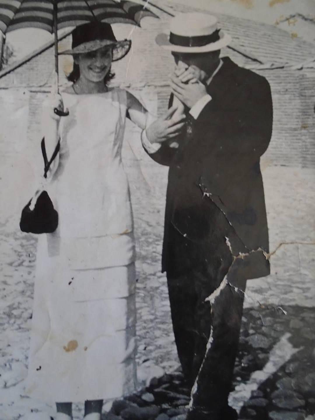 ნელი გოძიაშვილი რეჟისორ შოთა მანაგაძესთან ერთად