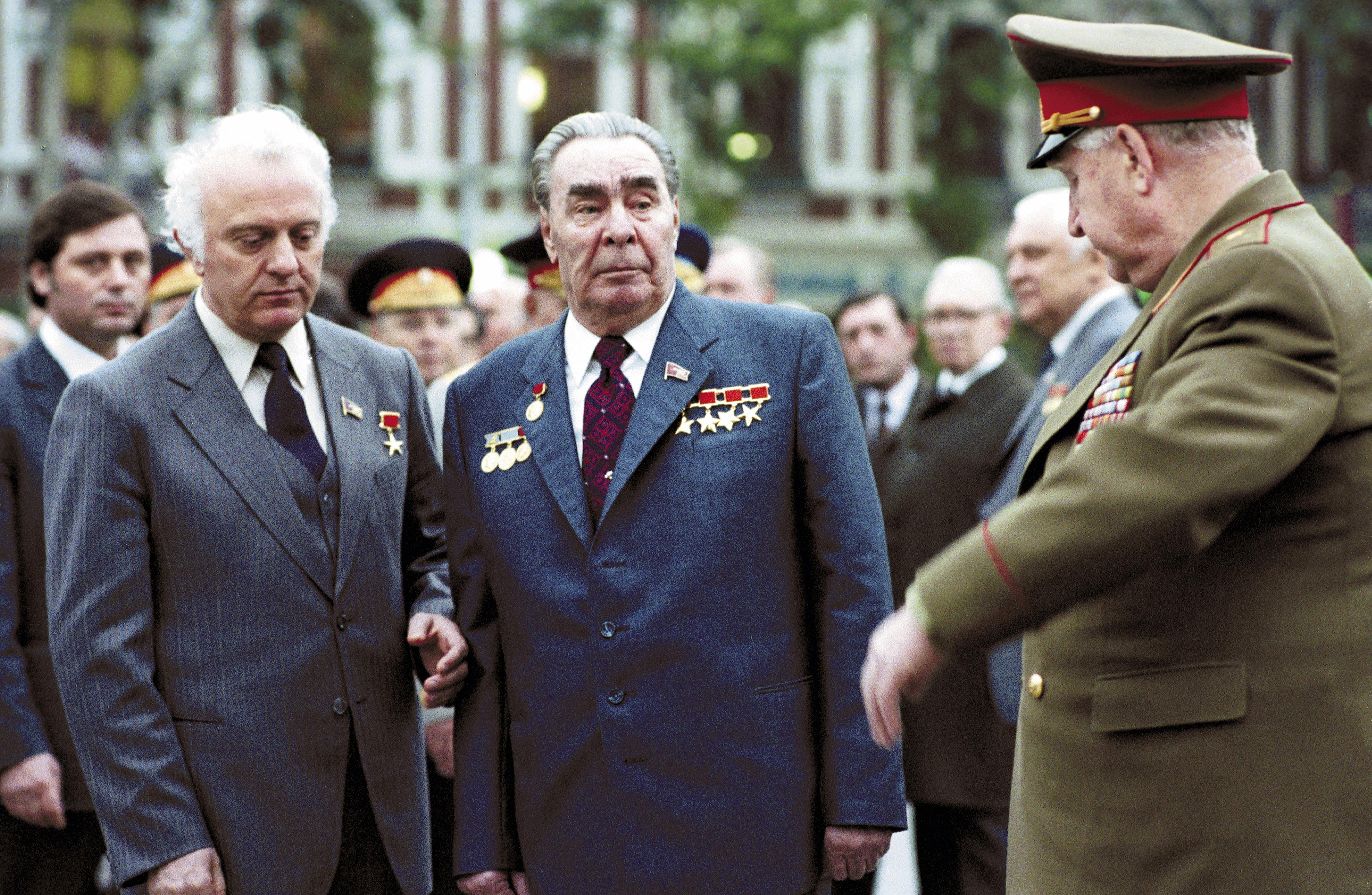 Леонид Брежнев в столице Грузии, 1981-й год
