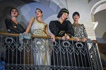 Танцовщицы ансамбля Сухишвили