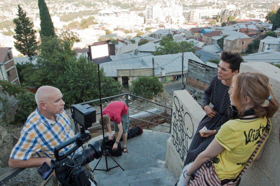 Евгений Кожокин снимает документальный фильм в Грузии