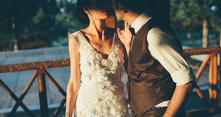 Молодожены - свадьба в Грузии