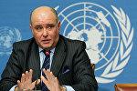 Заместитель министра иностранных дел РФ Григорий Карасин выступает в Организации Объединенных Наций