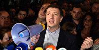 Экс-мэр столицы Грузии Гиги Угулава на митинге сторонников ЕНД - архивное фото