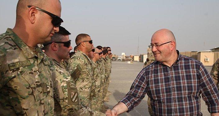 Министр обороны Грузии Леван Изория навестил грузинских военных в Афганистане