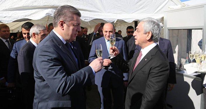 Георгий Квирикашвили и Серж Саргсян