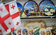 Грузинские сувениры в одном из магазинов в центре грузинской столицы