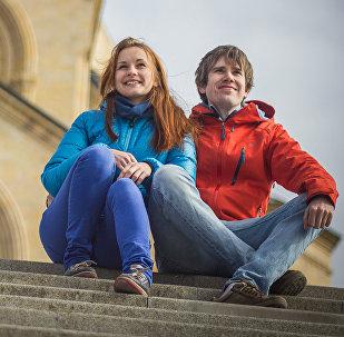 Анастасия Макарова из России и Пребен Людвигсон из Норвегии