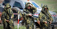Снайперы грузинской армии на военной базе в Вазиани