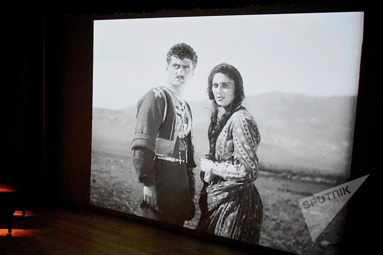 На показе фильма Элисо эпохи немого кино в Тбилисской консерватории