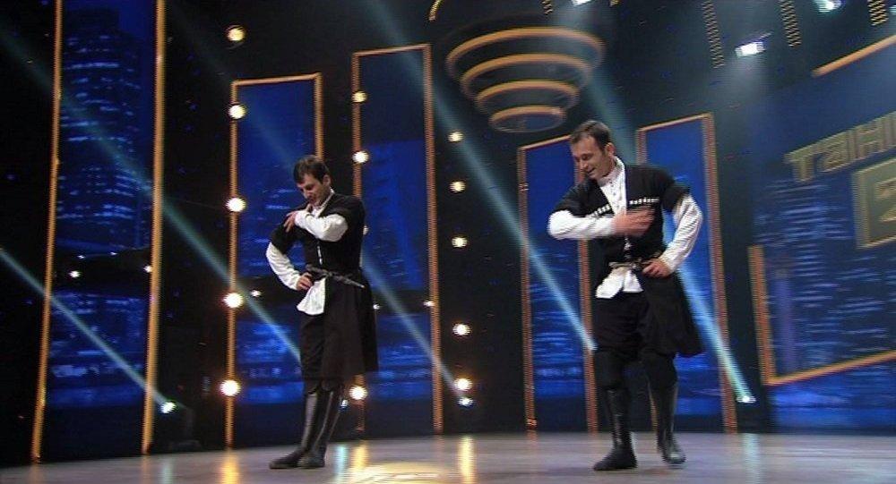 Танцоры Ираклий Надирашвили и Георгий Гулисашвили