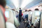 Стюардесса в салоне самолета